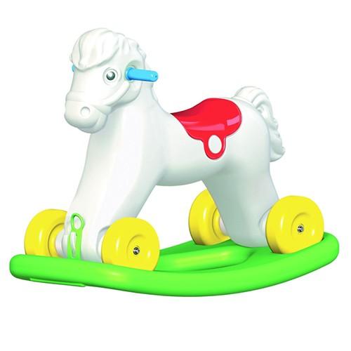 Pony balancín con ruedas