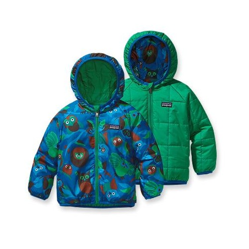 Bebés Patagonia  Puff-Ball Jacket reversible