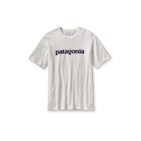 Hombres Patagonia Polera Text Logo
